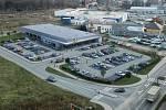 Vizualizace nového supermarketu, který v Uničově staví společnost Lidl.