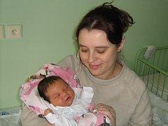 Vendula Procházková, Olomouc, narozena 20. března v Olomouci, míra 50 cm, váha 3640 g
