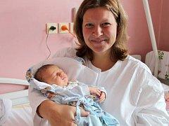 Dan Benýšek, Olomouc narozen 25. září v Olomouci míra 50 cm, váha 3390 gramů