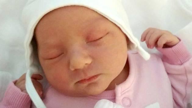 Apolena Plesková, Bystrovany, narozena 18. května, míra 50 cm, váha 3040 g