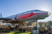 """""""Olomoucké"""" letadlo TU-104 v Air Parku ve Zruči u Plzně - druhý bok je v barvách sovětského Aeroflotu"""