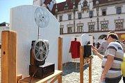 DED v Olomouci - výstava optických a světelných jevů na Horním náměstí