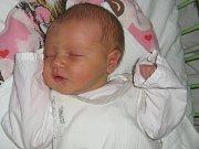 Ema Utíkalová, Hynkov, narozena 8. února v Olomouci, míra 51 cm, váha 3310 g