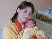Jana Ječmenová, Velký Týnec, narozena 4. února v Olomouci, míra 52 cm, váha 3550 g