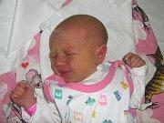 Katka Nováková, Mariánské Údolí, narozena 6. února v Olomouci, míra 47 cm, váha 2870 g