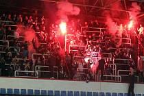 Fanoušci AZ Havířov při zápase proti Moře