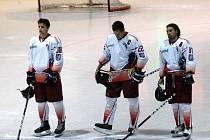 Minuta ticha před utkáním Mory s Třebíčí za trojici zesnulých českých hokejistů