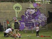 Streetart festival ve Velkomoravské ulici v Olomouci