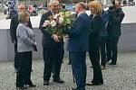 Příjezd Miloše Zemana do sídla Olomouckého kraje 20. března 2017