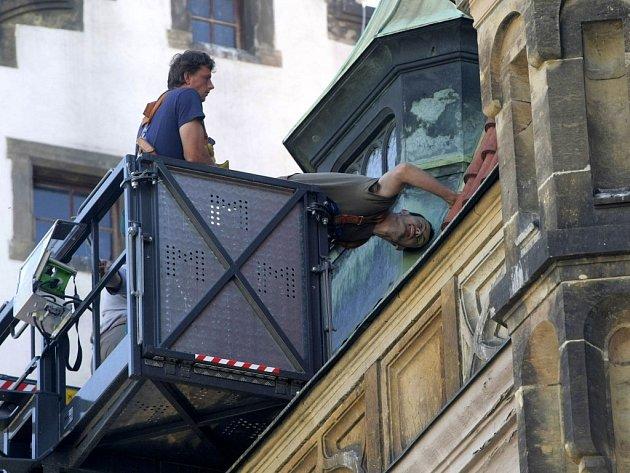 Kvůli holubům do radnice zatéká.
