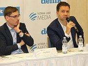 Náměstek olomouckého primátora Filip Žáček (vlevo) a podnikatel Robert Runták