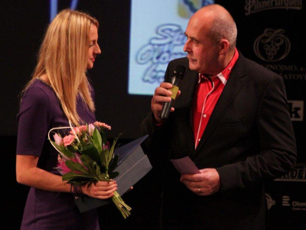 Petra Kvitová na vyhlášení Sportovce Olomouckého kraje za rok 2014 v Městském divadle v Prostějově