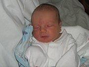 Tadeáš Sova, Olomouc, narozen 8. února v Olomouci, míra 50 cm, váha 3410 g