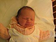 Vendula Bártová, Olomouc, narozena 11. února v Olomouci, míra 52 cm, váha 3460 g