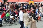 Vinné slavnosti na Horním náměstí v Olomouci