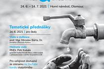 Putovní výstava Voda a civilizace bude na Horním náměstí v Olomouci k vidění od čtvrtka 24. června.
