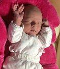 Klára Hanišová, narozena 28. listopadu v Olomouci, míra 51 cm, váha 3620 g