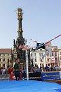 Hanácká laťka 2016 na Horním náměstí v Olomouci. Na snímku Dalibor Hon.