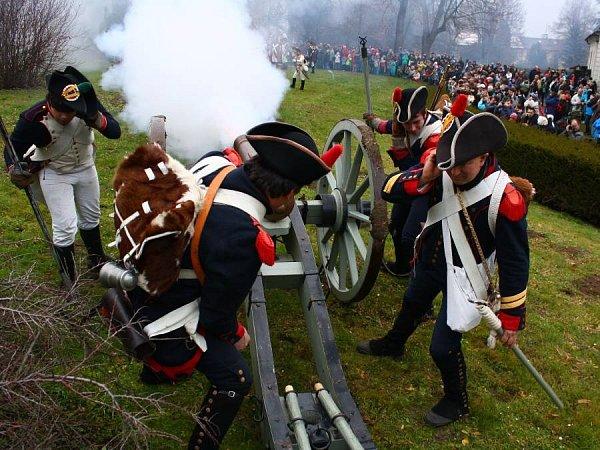 Ukázka střetnutí znapoleonských válek uzámku vNáměšti na Hané