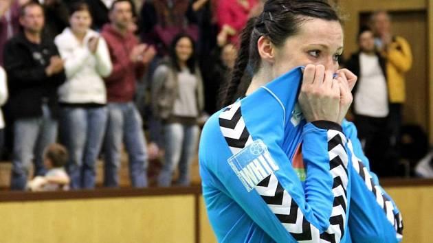 Reprezentační brankářka Barbora Raníková se po devíti letech loučila s týmem Olomouce.