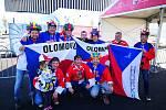 Hokejoví fanoušci z Olomouce na MS v Dánsku. složení David Foretník, Luděk Tichý, Pavel Lorenc, Roman Perůžek, Radek Pajunčík a Robert Stejskal.