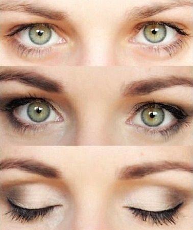 HLUBOKO POSAZENÉ. Oči, které jsou více hluboko, potřebují upravit tak, aby se dostaly opticky ven.