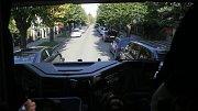 Hasiči testovali průjezdnost ulic v Olomouci