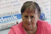 Blanka Kocourková při on-line rozhovoru Deníku