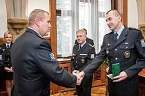 Slavnostní vyhodnocení nejlepších policistů a občanských zaměstnanců územního odboru Olomouc.