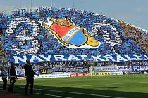 Fanoušci Baníku v Olomouci. Co se podpory klubu týká, patří modrobílá síla fanoušků Baníku dlouhodobě k těm nejlepším v republice. Jsou pověstní i svou kreativitou v případě tvorby choreografií.