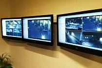 Městský kamerový systém v budově Městské policie Šternberk.