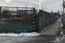 Místo v Šumperské ulici v Uničově, kde má vyrůst supermarket Lidl