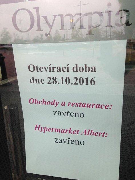 Olomoucká Olympia bude na státní svátek zavřená