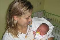 Valerie Uhýrková, Olomouc, narozena 18. října v Olomouci, míra 52 cm, váha 3930 g