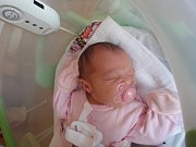 Sofie Osičková, Mohelnice, narozena 23. července v Olomouci, míra 51 cm, váha 3450 g.