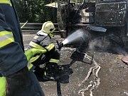 Likvidace následků tragické nehody mezi Lipinou a Horní Loděnicí