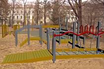 Řepčín - park u bývalé chirurgie - vizualizace chystaného hřiště