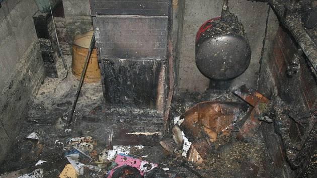 Požár kotelny ve Vilémově