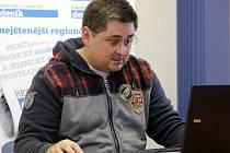 Martin Novotný při on-line rozhovoru pro Deník