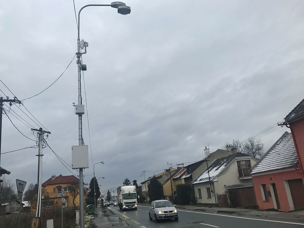 Radar v Dalimilově ulici v Olomouci-Chomoutově, 9. ledna 2021