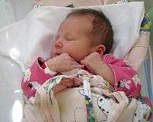 Ema Faixová, Olomouc, narozena 25. dubna v Olomouci, míra 50 cm, váha 3200 g