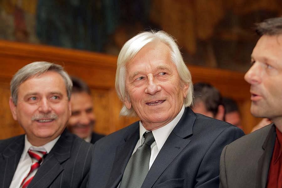 Karel Brückner byl na olomoucké radnici vyhlášen nejlepším trenérem desetiletí