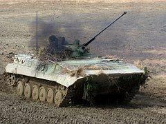 Bojové vozidlo pěchoty BVP-2. Výcvik 71. mechanizovaného praporu na Libavé. Ilustrační foto