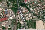 Kontejnerová loď Ever Given na estakádě Haná v Prostějově