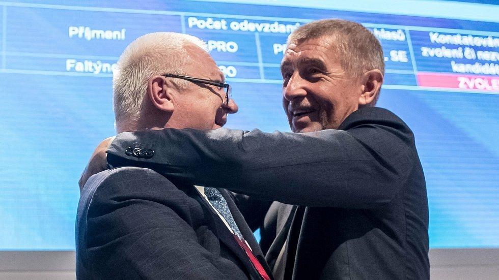 Jaroslav Faltýnek (vlevo) a Andrej Babiš
