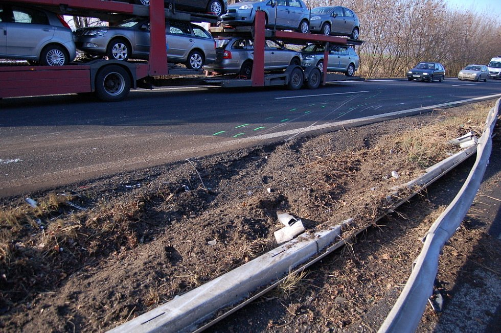 Kamion zablokoval výpadovku na Mohelnici.