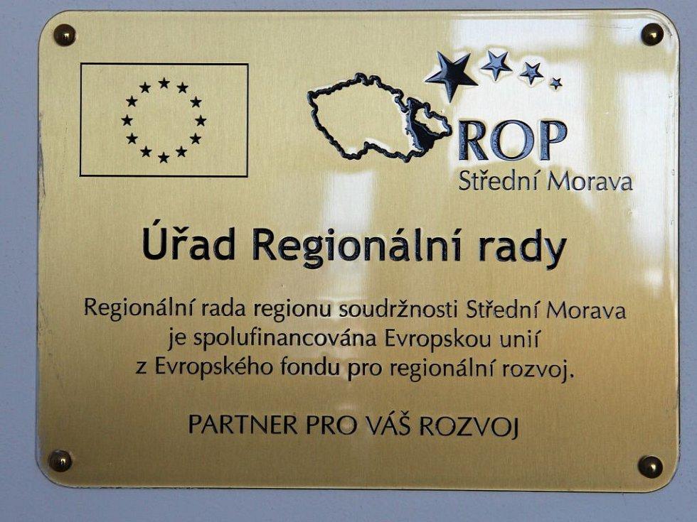 Sídlo Regionální rady ROP Střední Morava v pátém patře budovy RCO v Olomouci