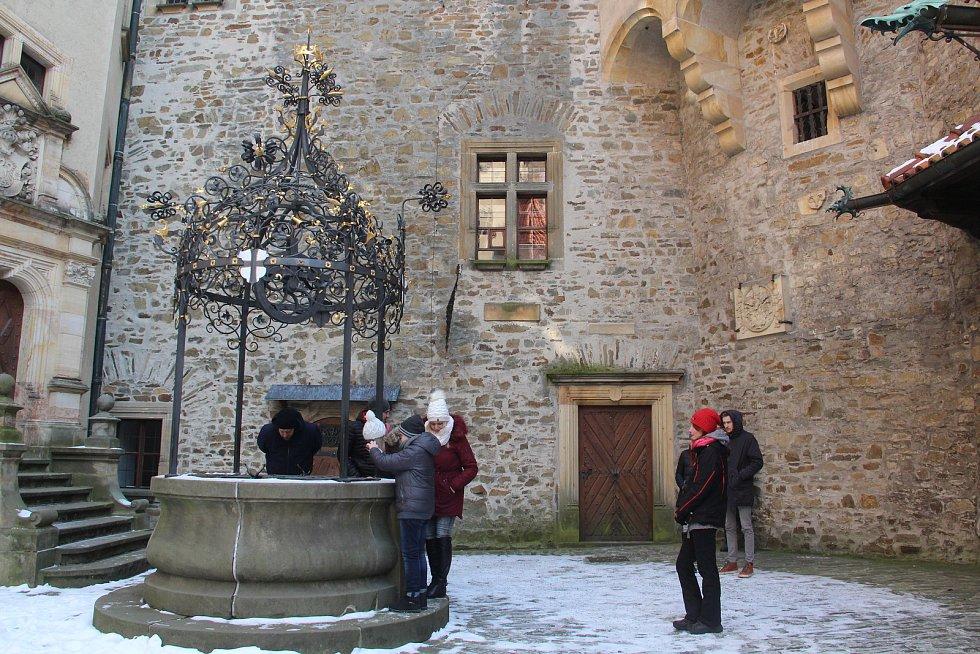 Hrad Bouzov nabízí zimní prohlídkovou trasu