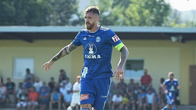 Sigma Olomouc porazila v přípravném utkání ve Slatinicích Hradec Králové 1:0.Milan Kerbr