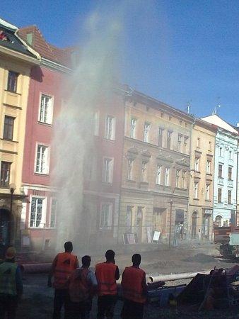 Gejzír na Dolním náměstí vOlomouci